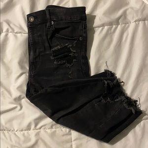 Size10 American Eagle high-rise denim biker shorts